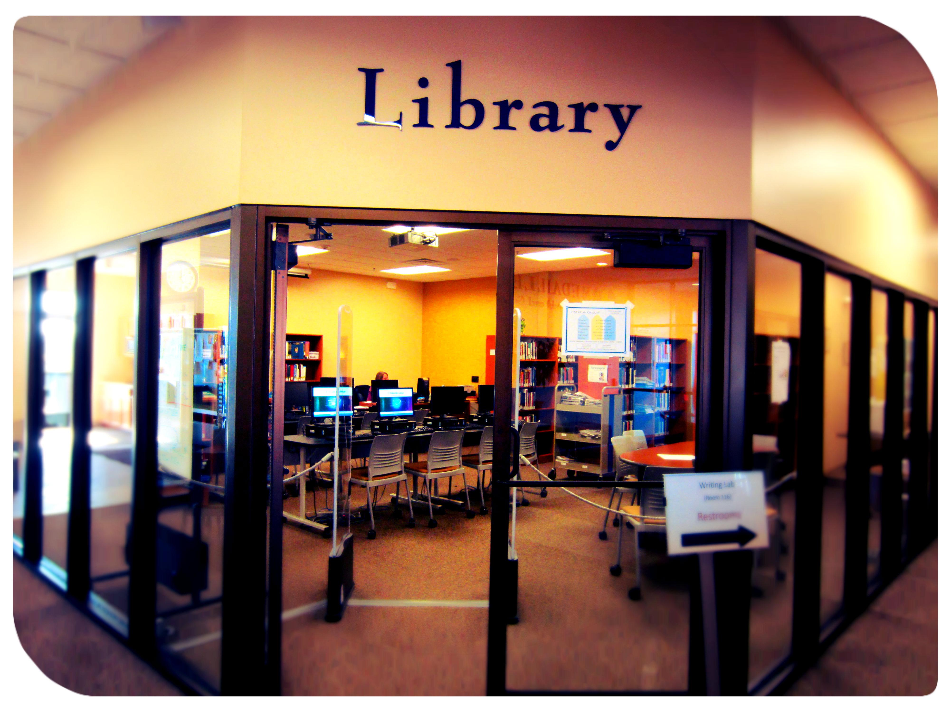 library big entrance